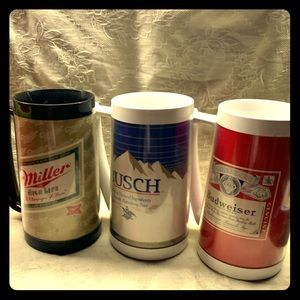 Vintage Lot of Thermo-Serv 70's Beer Mugs
